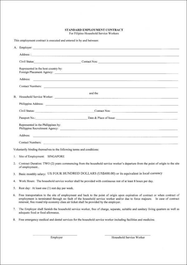 standard contract of employment template - what you need to know about employment contracts sample
