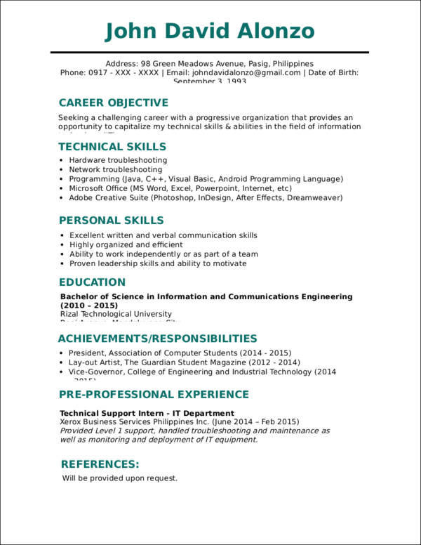 simple resume template simple resume template