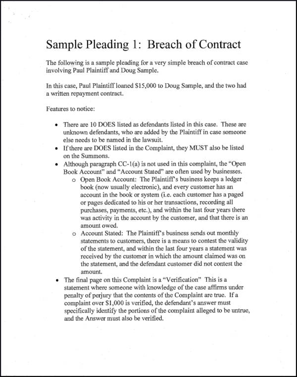 Remedies For Contract Breaches Sample Templates