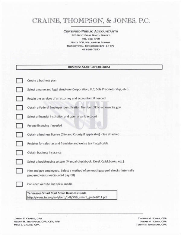 Business start up checklist sample templates business startup checklist template friedricerecipe Choice Image