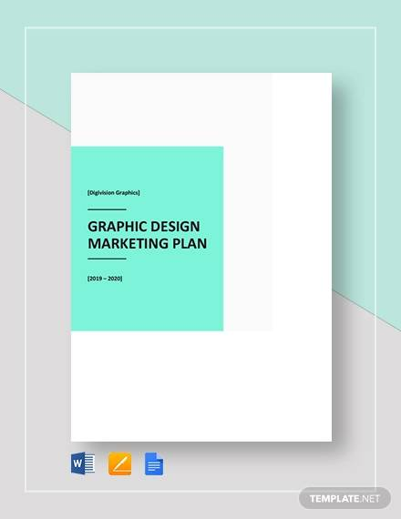 graphic design marketing plan template