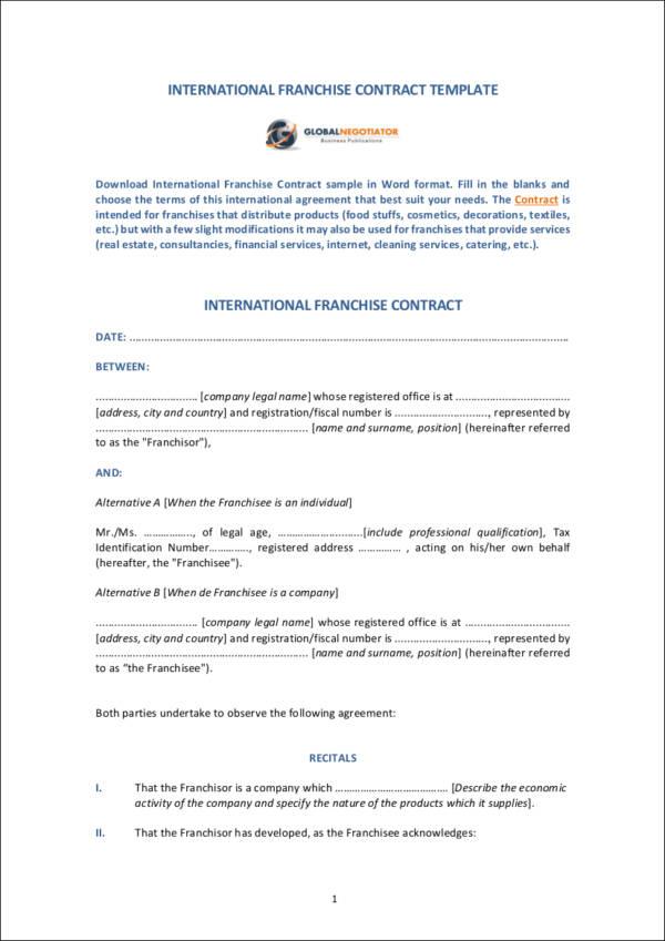 International Distribution Contract Template Global Mandegarfo