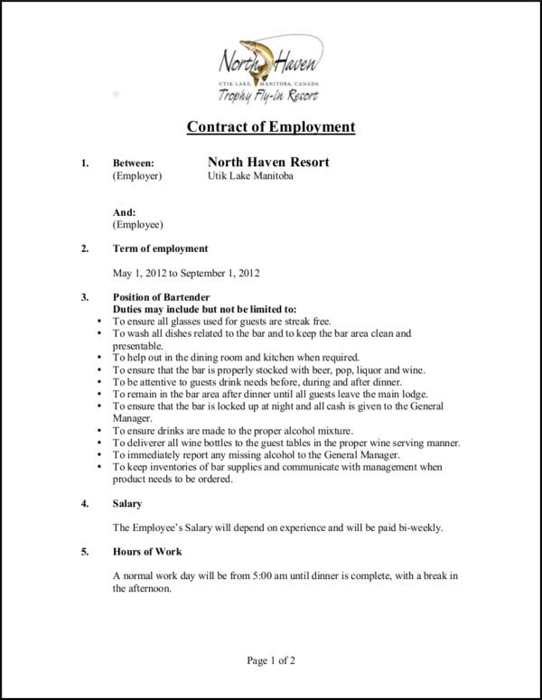 Careful Signing Employment Contract  Resume Template Sample