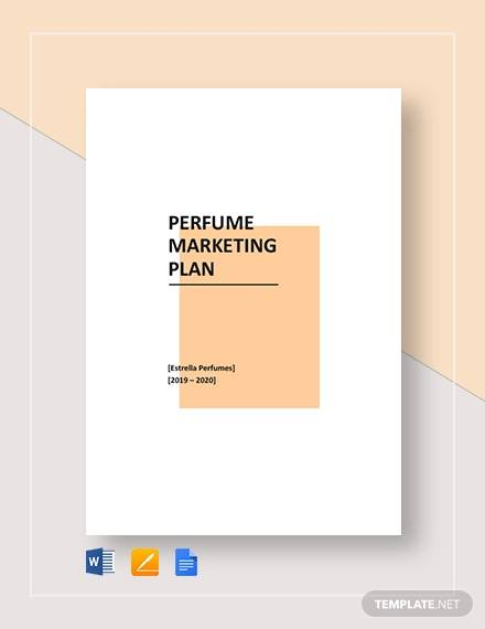 perfume marketing plan template