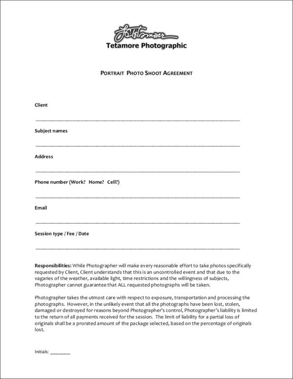 23  photography contract templates and samples in pdf
