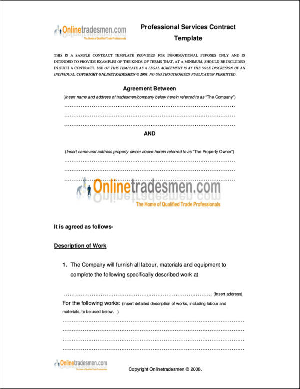 professional services contract template1