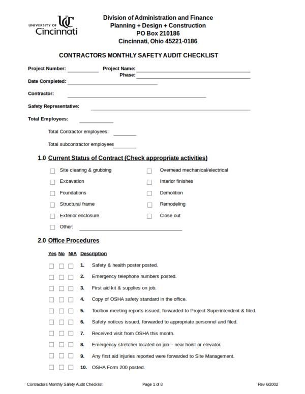 16 checklist samples templates sample templates. Black Bedroom Furniture Sets. Home Design Ideas