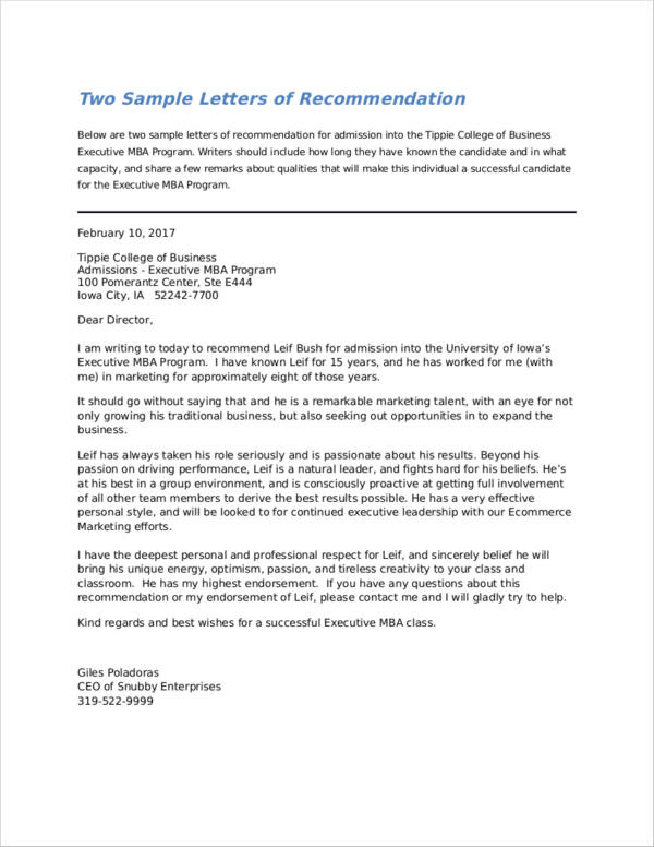 How To Write A Recommendation Letter For Graduate School | Free