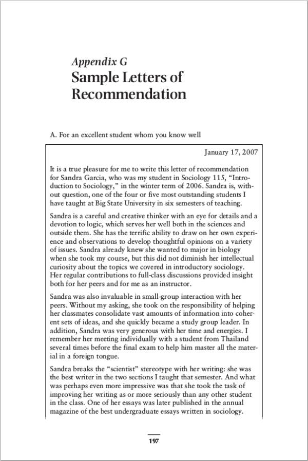 how to write a recommendation letter for graduate school