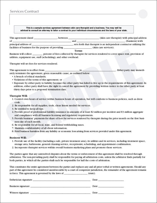 services contract
