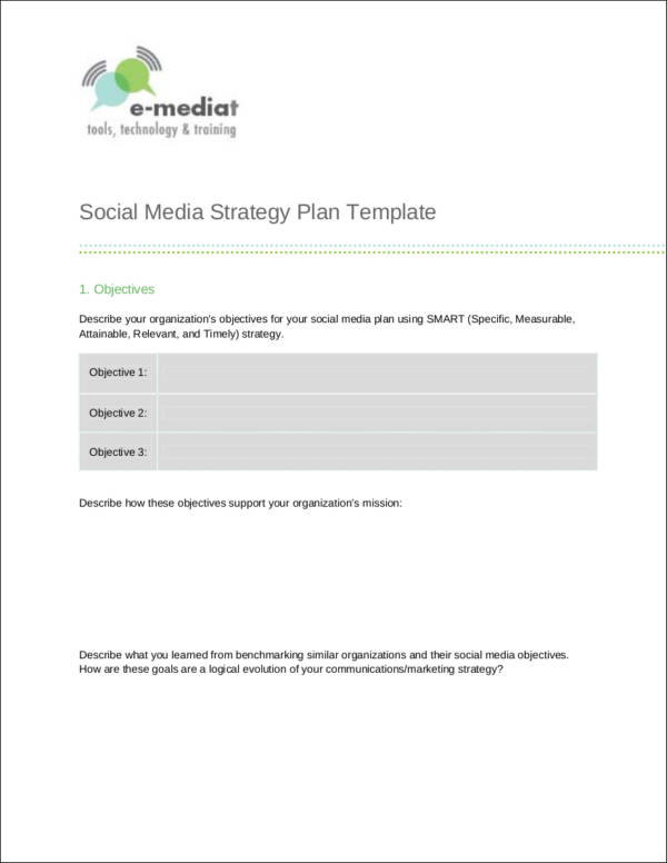 Media Plan Template Sample Social Media Marketing Outline Template