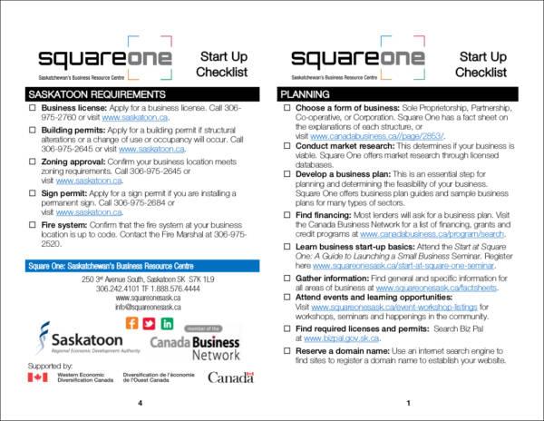 squareone start up checklist