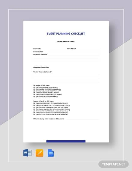 sample event planning checklist1