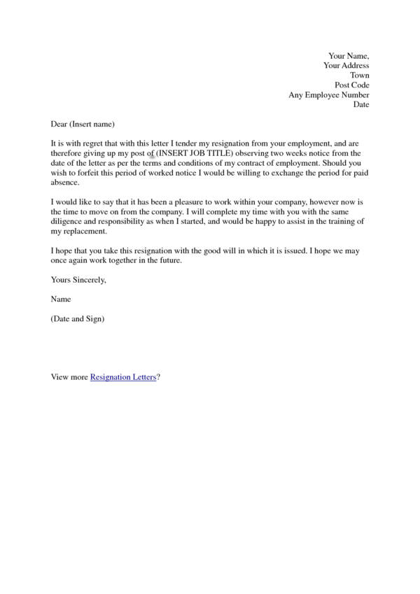 two weeks notice, sample teacher, for kappa, personal reasons, simple sample, on one week resignation letter template