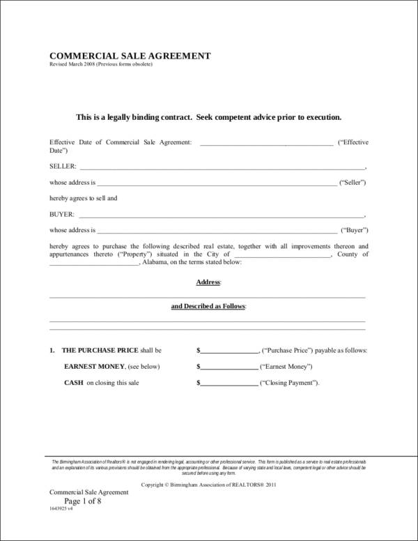 Property Contract Samples  Templates  Free Word Pdf Format