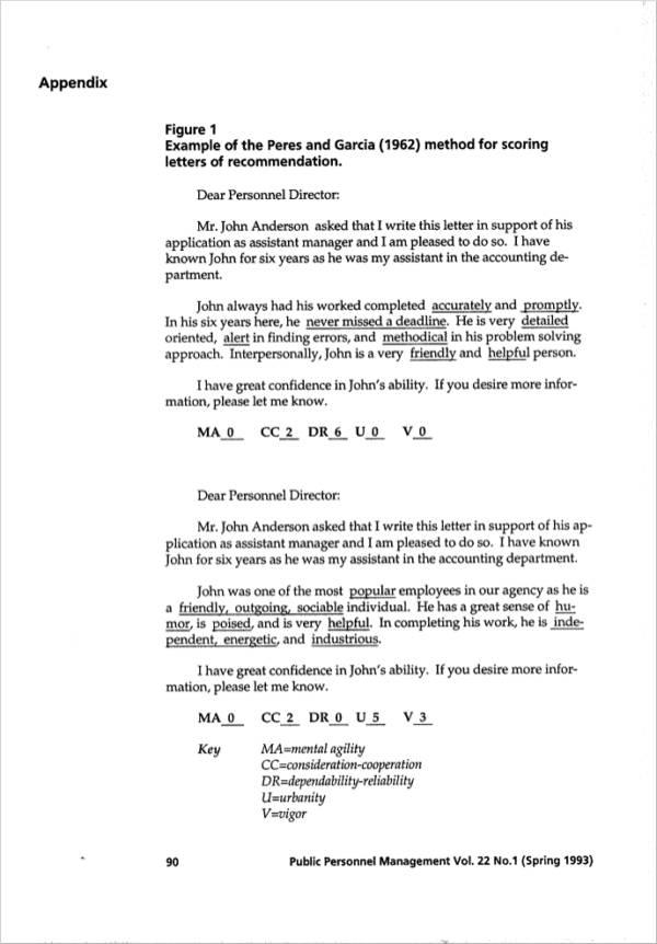 employer recommendation letter sample