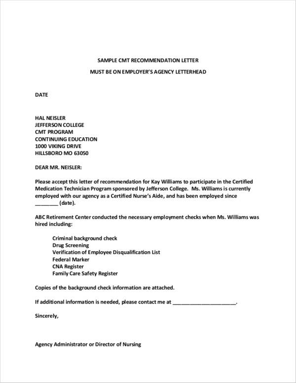 free 13  sample recommendation letter templates from employer in word