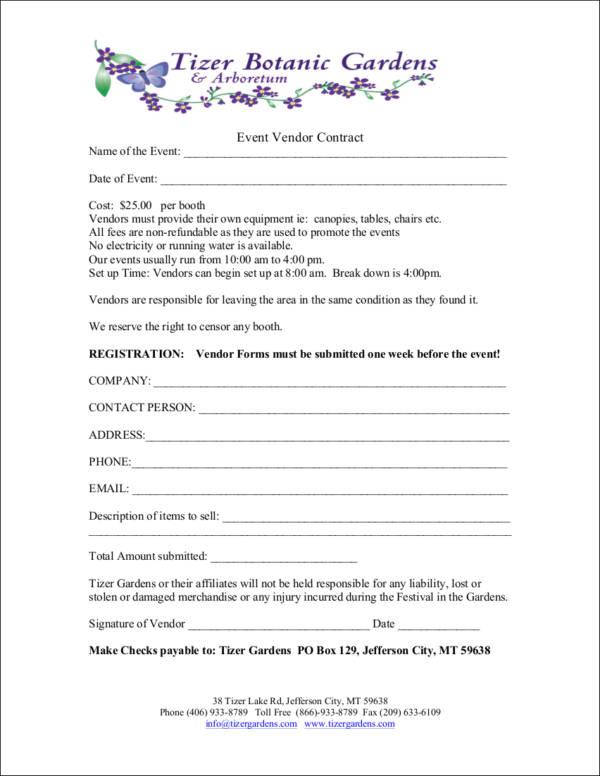 event vendor contract template