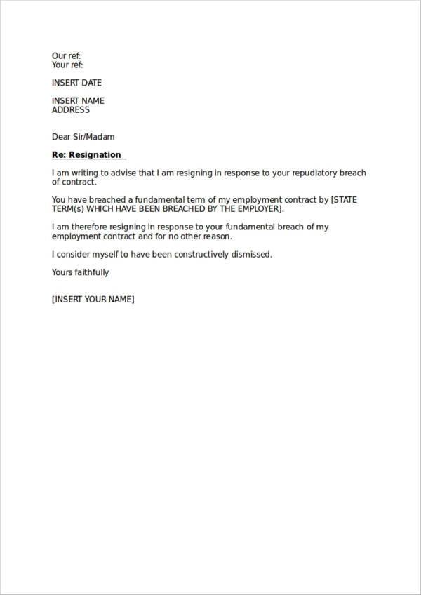 Legal-Resignation-Letter-Sample Official Resignation Letter Template on two weeks notice, personal reasons, simple sample, for kappa, sample teacher,
