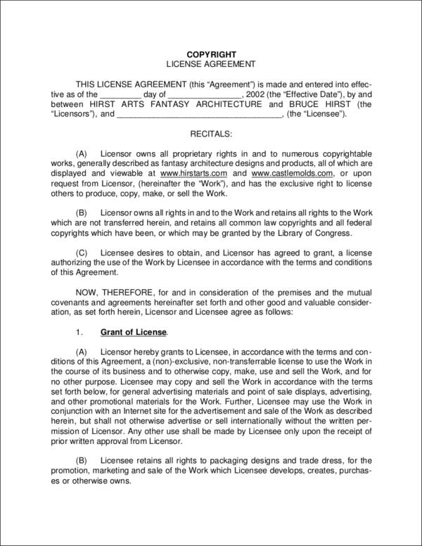 license agreement contract
