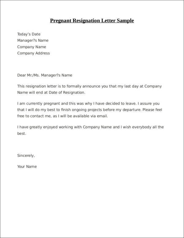 33+ Printable Resignation Letter Samples & Templates - Free ...
