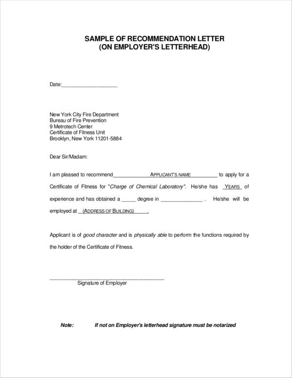 9+ Reference Letter for Employment Examples - PDF | Examples