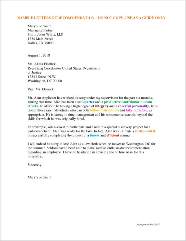 letter of recommendation example 43 letter of recommendation samples templates 23029 | Sample Recommendation Letter from Employer in PDF