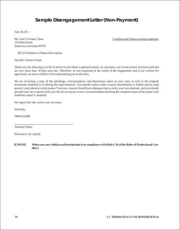 Termination Letter Samples  Templates