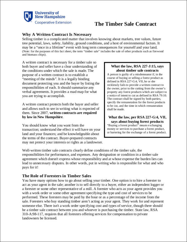 Pretty Land Sale Contract Template Ideas  Examples Professional
