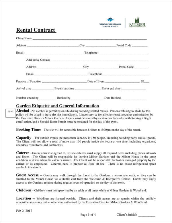 9 Wedding Contract Templates Free Word Pdf Format Download