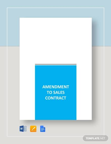 amendment to sales contract