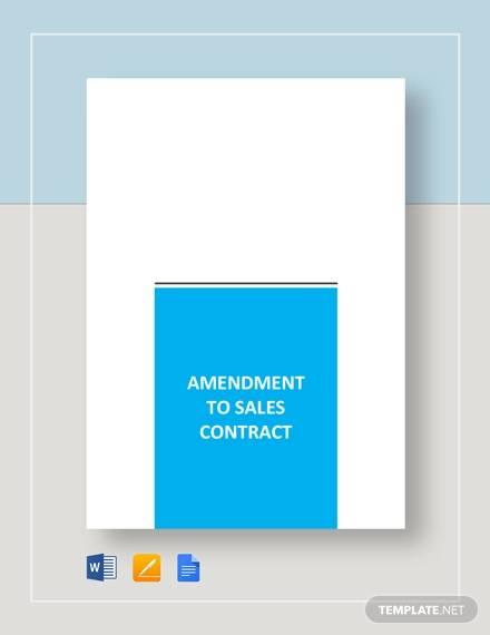 amendment to sales contract