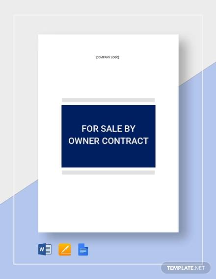 for sale by owner contract