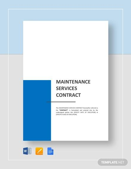 maintenance service contract