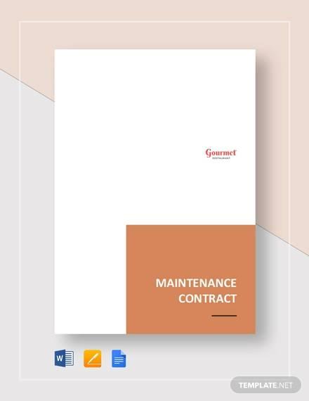 restaurant maintenance