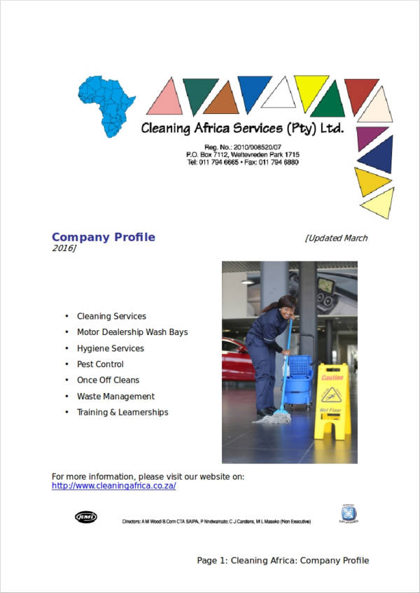 cleaning service company profile