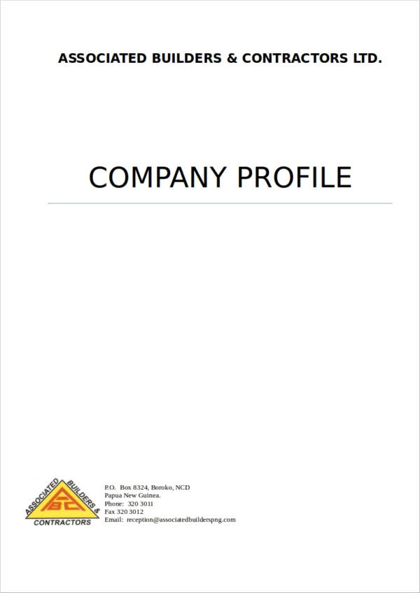 contractor sample company profile