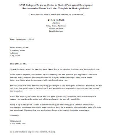 general job offer thank you letter