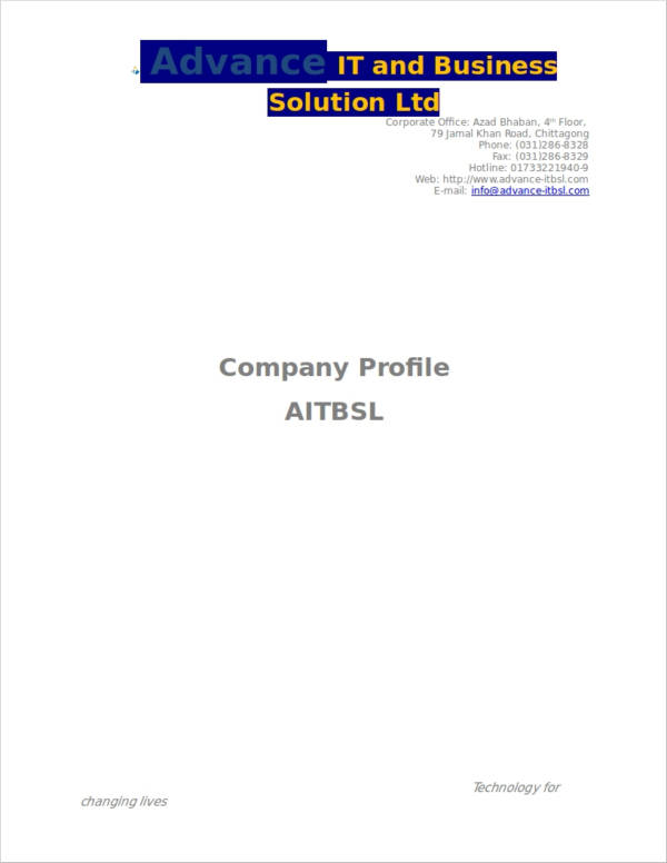 it business company profile
