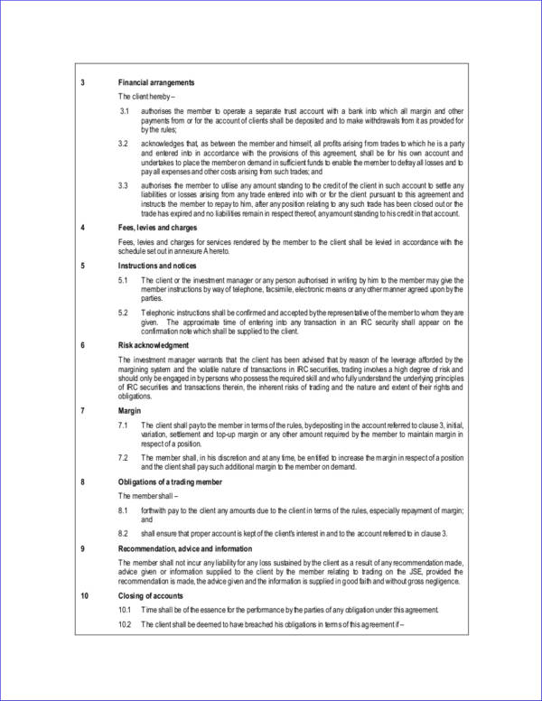 investment management agreement contract template
