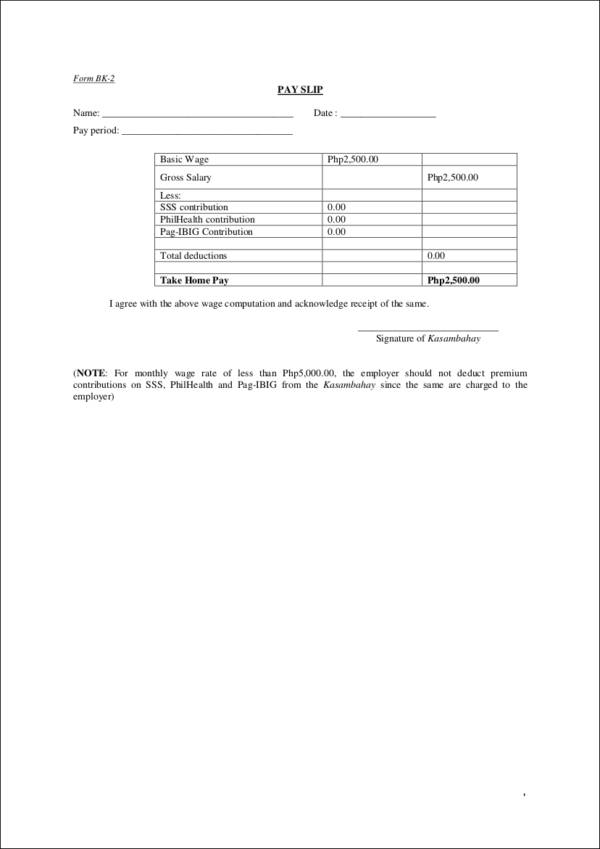 25 Payroll Templates in PDF Free PDF Format Download – Payroll Payslip Template