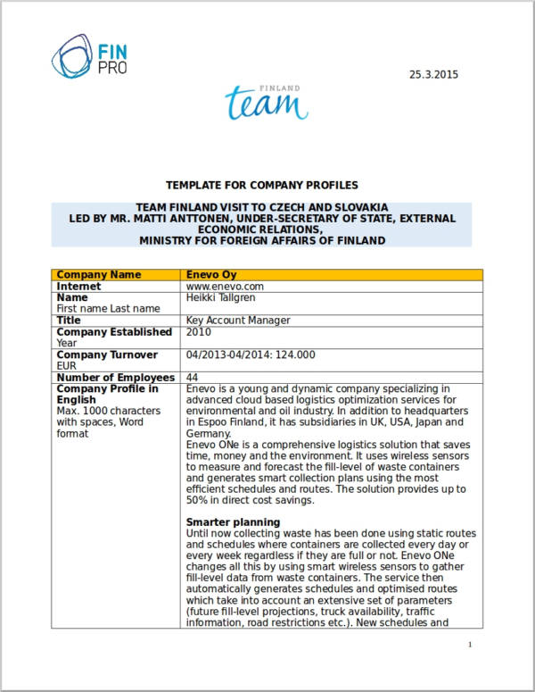 18 simple company profile templates doc sample templates for Distributor profile template