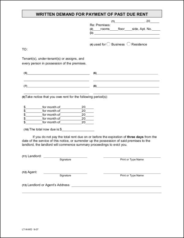free 16  payment notice samples  u0026 templates in pdf