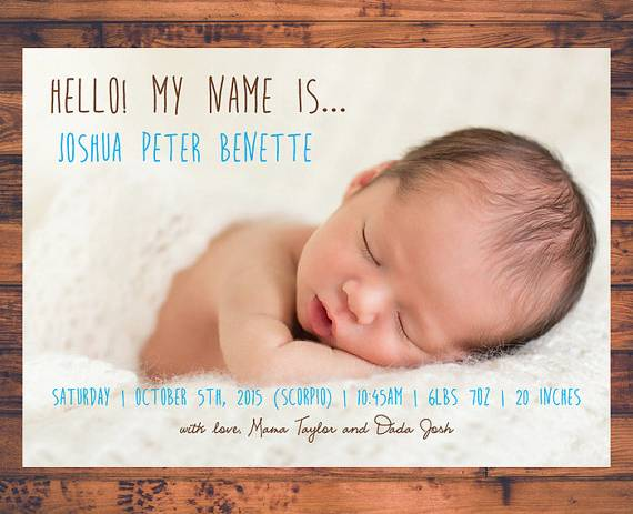 10 birth notice samples templates free word pdf format download