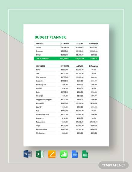 budget planner template1