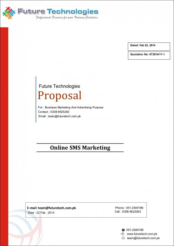 bulk sms marketing proposal sample