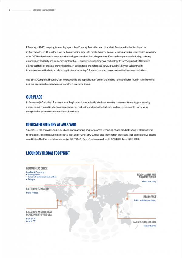 company profile sample for foundry business
