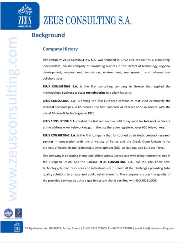 30 company profile samples templates in pdf sample templates consulting services company profile sample altavistaventures Choice Image