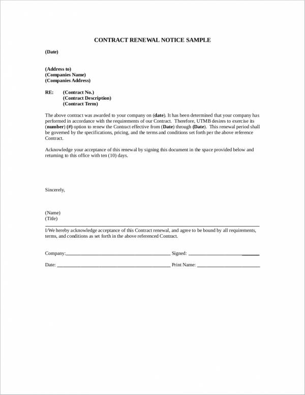 contract renewal notice sample1