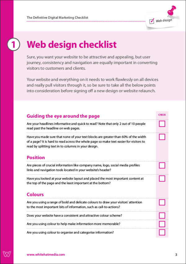 digital marketing strategy checklist sample